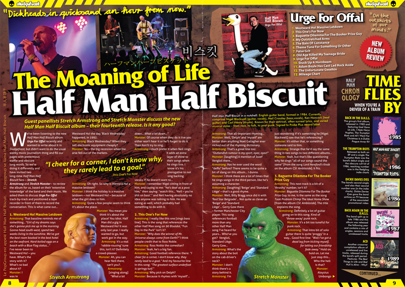 Half Man Half Biscuit in Sludgefeast issue two