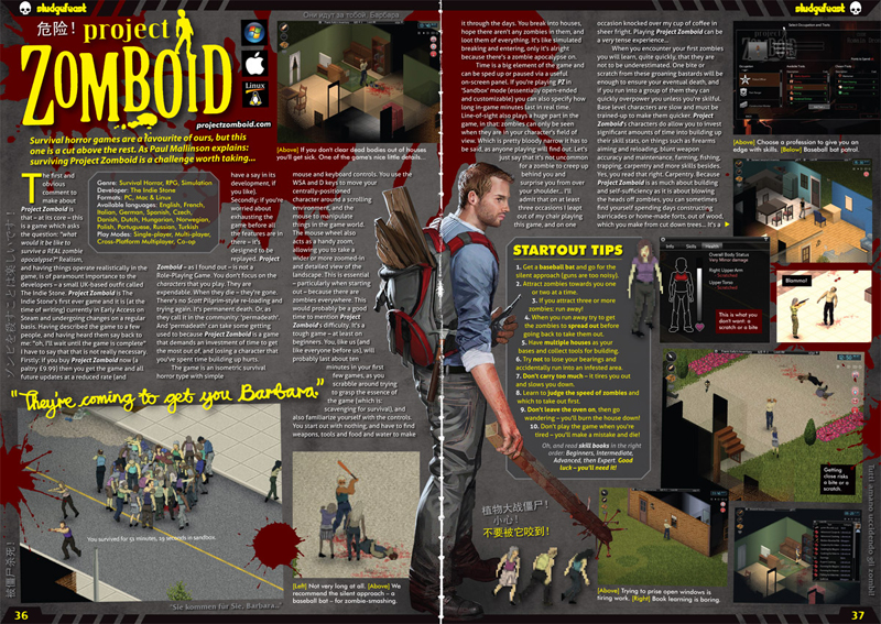 Project Zomboid in Sludgefeast issue two